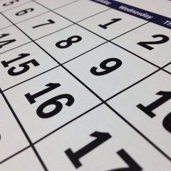 Key dates 2021
